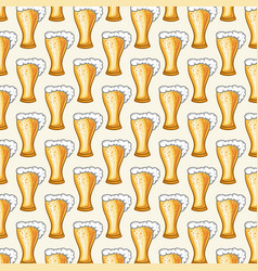 background pattern with beer glasses vector image vector image
