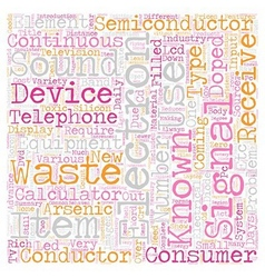Consumer Electronics Items text background vector image vector image