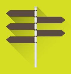 Road sign icon vector