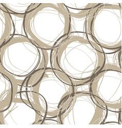 scribble circles seamless pattern vector image vector image
