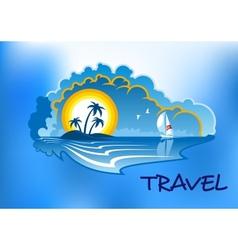 Tropical beach landscape vector image vector image