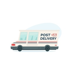 Cartoon fast delivery truck Isolated objects on vector image