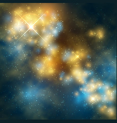 outer space abstrac background with cosmic vector image vector image