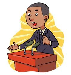 Politician vector image vector image