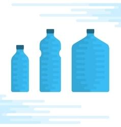 Set of water bottles vector image