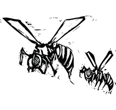 Wasps vector image vector image