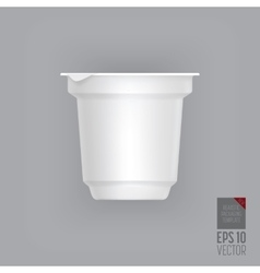 Yogurt container isolated vector image