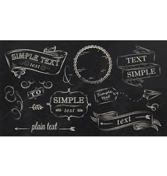 Chalk design elements vector