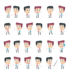 dialog poses of two business characters vector image vector image