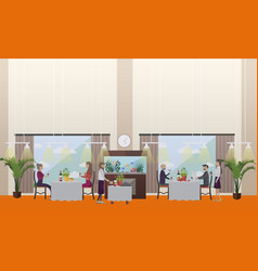 good restaurant concept in vector image vector image
