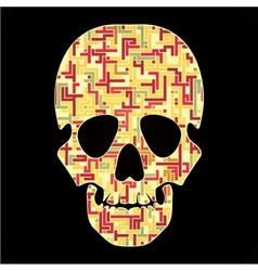 skull with colorful abstract elements vector image vector image