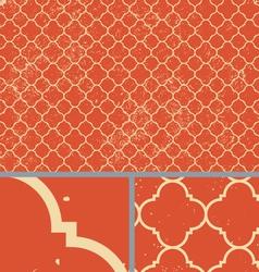 Vintage Orange Worn Seamless Pattern Background vector image vector image