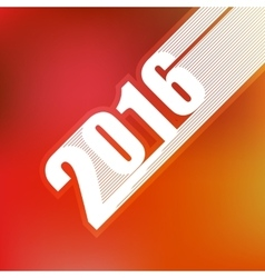 2016 inscription on blurred red background vector image