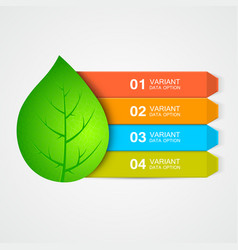 abstract leaf menu or infographic elements vector image vector image