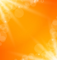 abstract orange bright background with sun light vector image