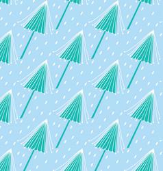 blue tree pattern vector image