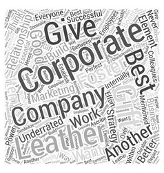 corporate leather gift Word Cloud Concept vector image