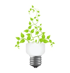 power saving leaves vector image