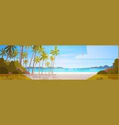 sea shore beach beautiful seaside landscape summer vector image vector image