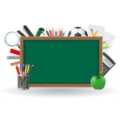 set icons school supplies 01 vector image vector image