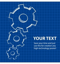Techno blue abstract background vector image vector image