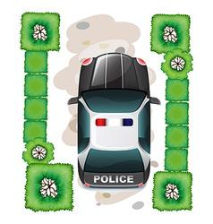 A topview of a police car vector image