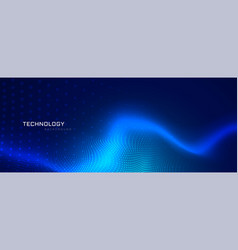 Abstract blue technology banner design vector