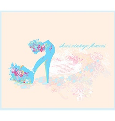 abstract fashion shoes vintage poster vector image