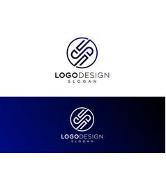 Abstract letter s logo -s logo design vector