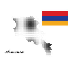 Armenia map with polka dots and the armenia vector