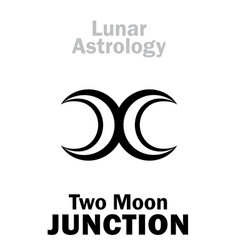 Astrology two moon junction vector