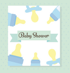 babottles milk accessories frame vector image