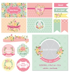 Baby Shower Flower Theme vector