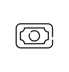 banknote outline icon vector image