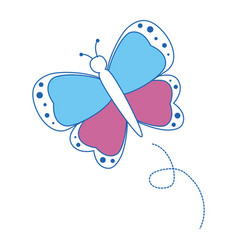 Beautiful butterfly isolated vector