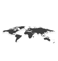 black blank world map fake3d vector image