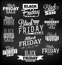 Black Friday Calligraphic Designs vector image