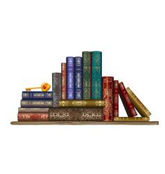 books on shelf wall sticker vector image