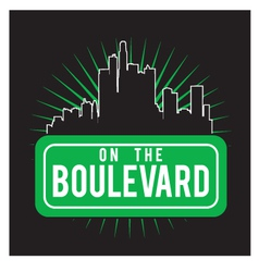 Boulevard vector