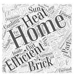 brick stone home energy efficient Word Cloud vector image