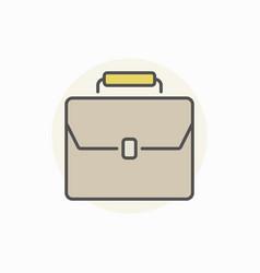 briefcase colorful icon vector image