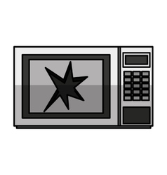 Broken microwave oven icon vector