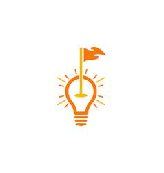Bulb golf logo icon design vector