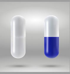 capsule pill isolated vector image
