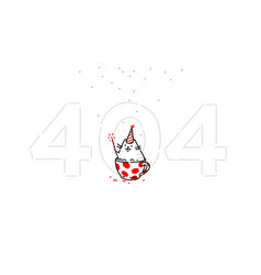 cartoon funny cat on page 404 flat the character vector image