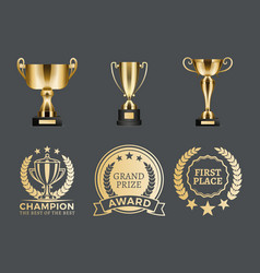 Champion prizes collection vector