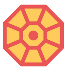 Chinese octagon vector