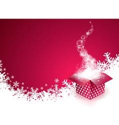 Christmas design with gift box vector image