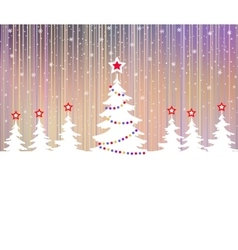 Christmas tree with star and garlands vector