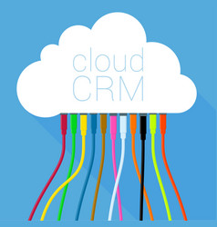 Cloud crm solution template vector